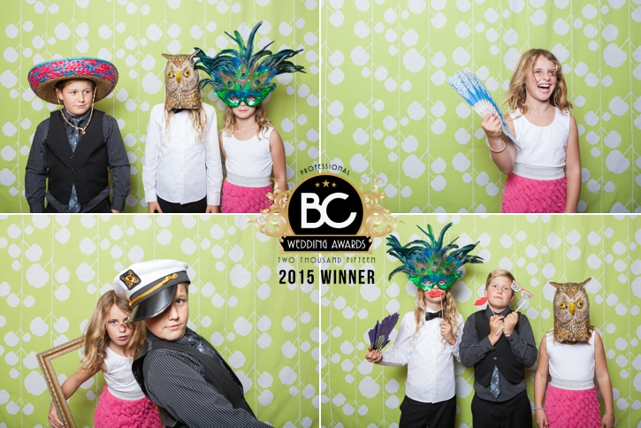 2015 BC Wedding Awards Winner, Best Photo Booth, sequence, wink photography