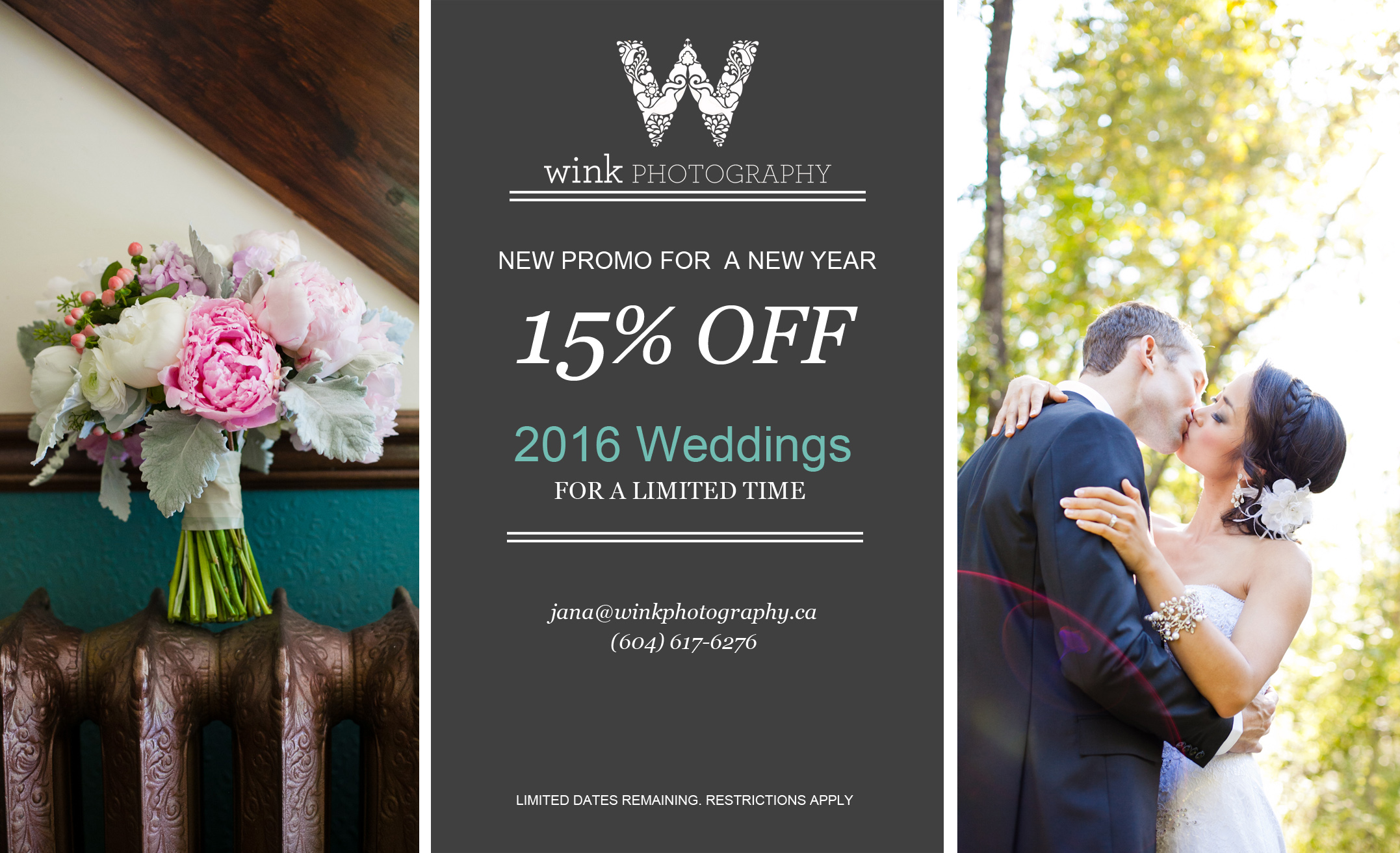 Vancouver Wedding Photography Promo 2016 by Wink Photography