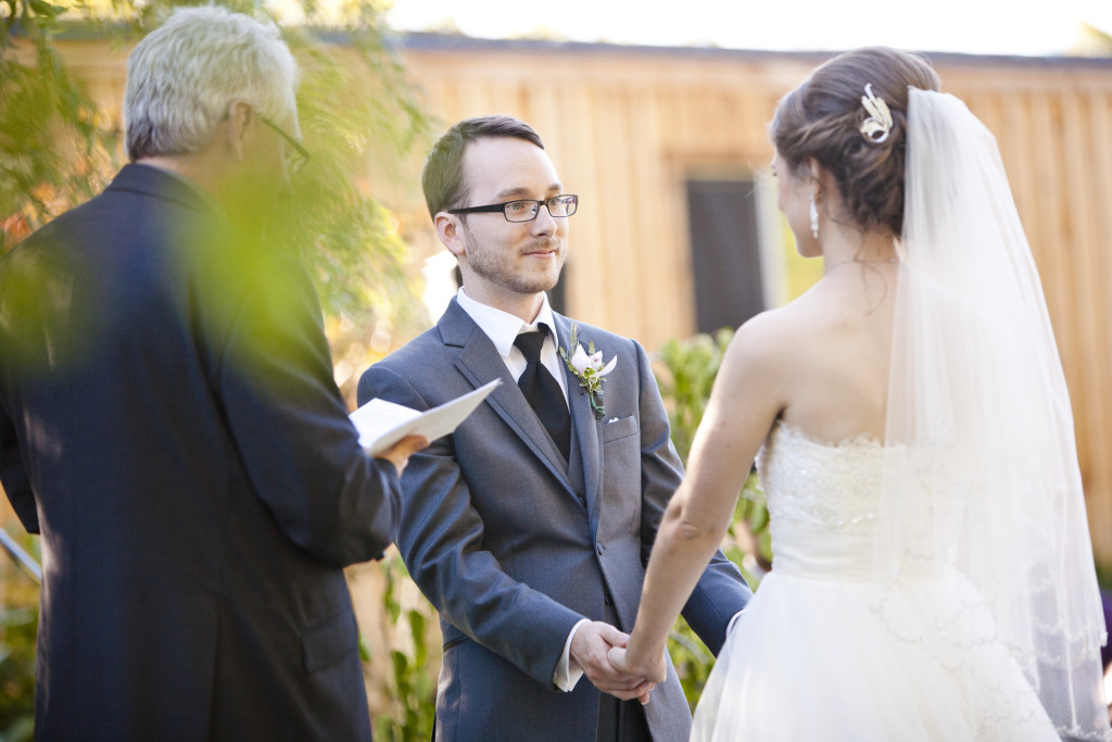 groom wedding ceremony abbotsford, secret garden wedding