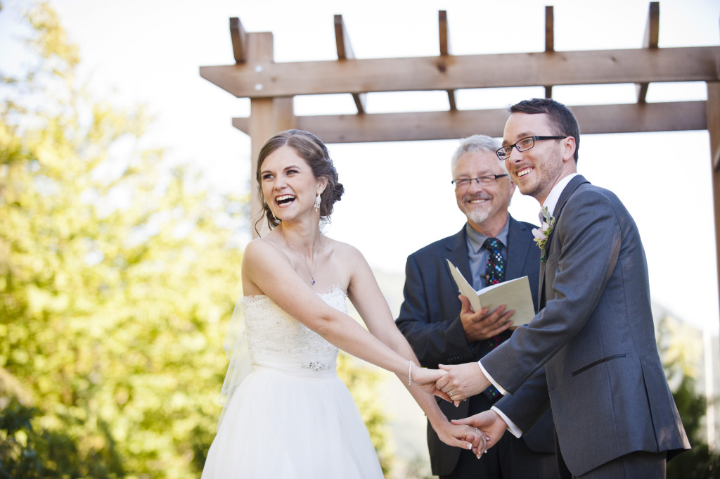 funny moment wedding ceremony abbotsford secret garden wedding