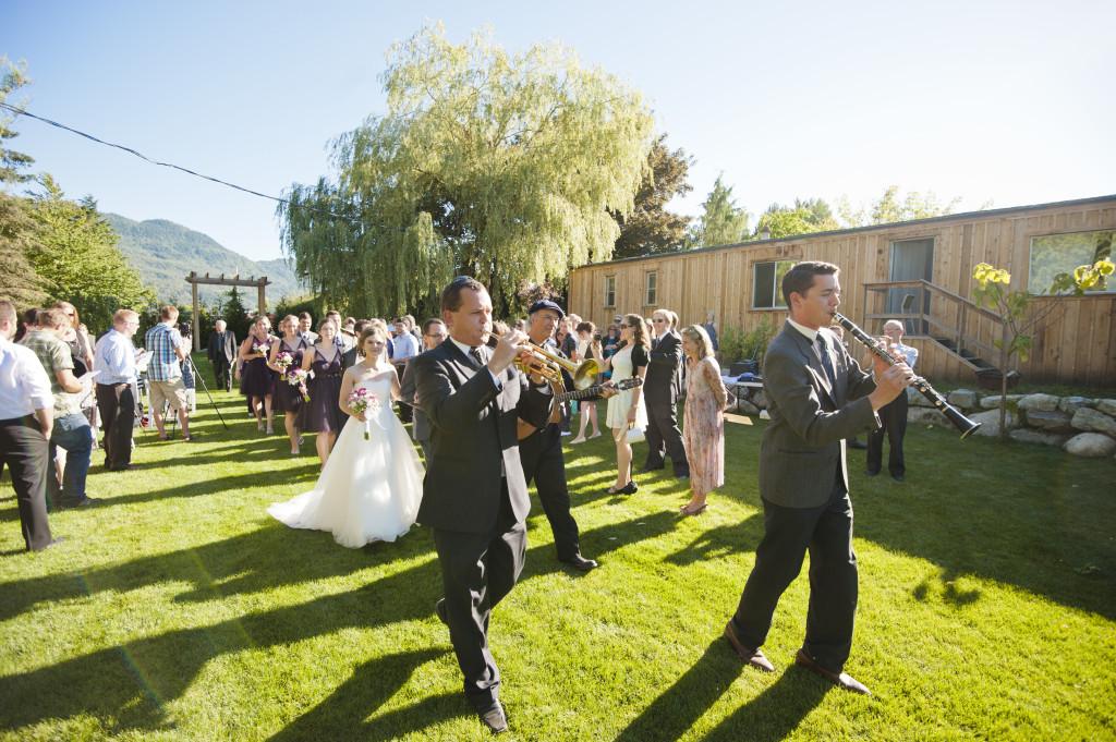 wedding parade ceremony recessional, alternative wedding, quirky wedding vancouver