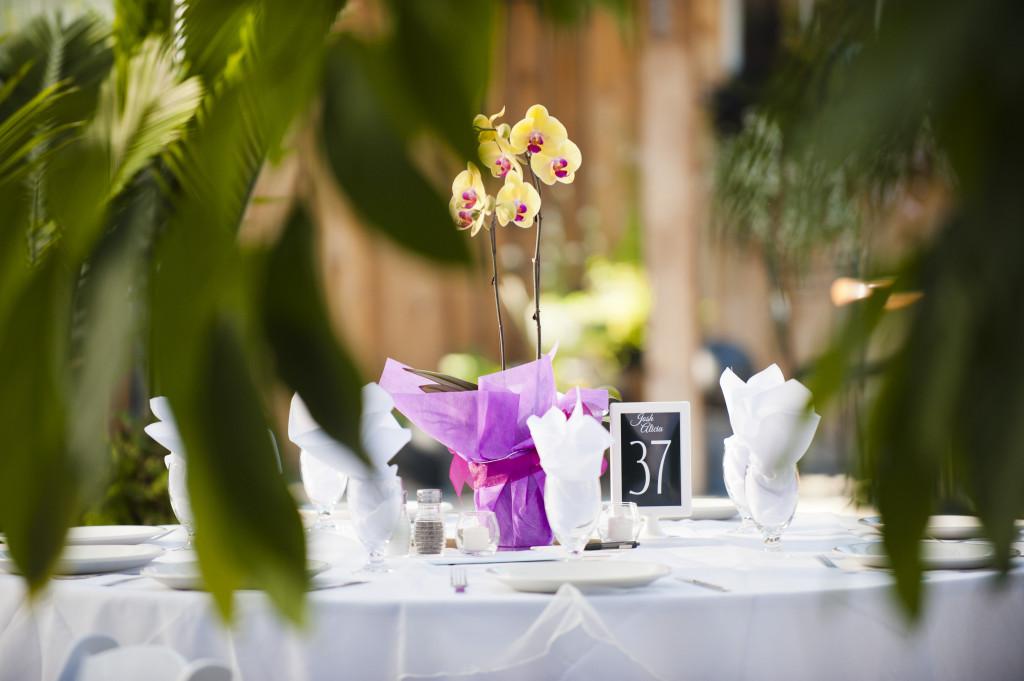 secret garden at woodbridge ponds wedding, reception table decor