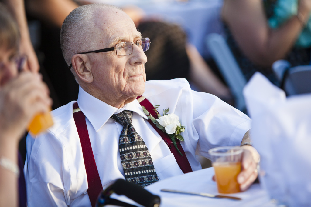 grandfather at wedding reception