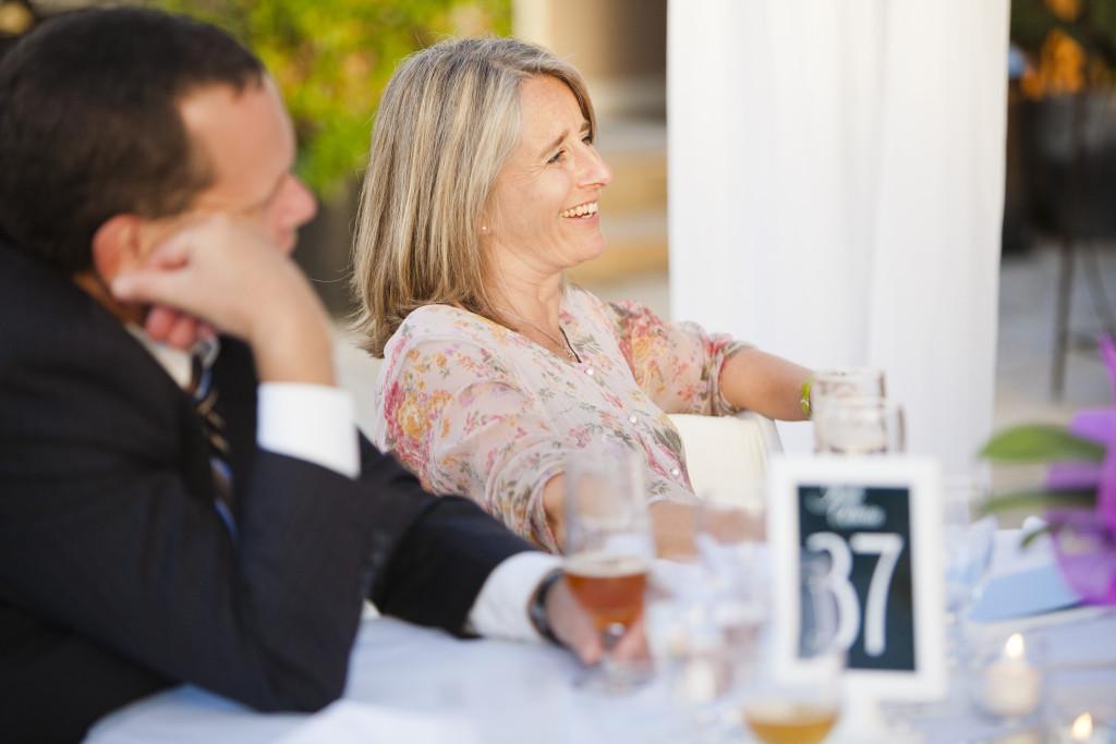 happy guests at wedding reception abbotsford