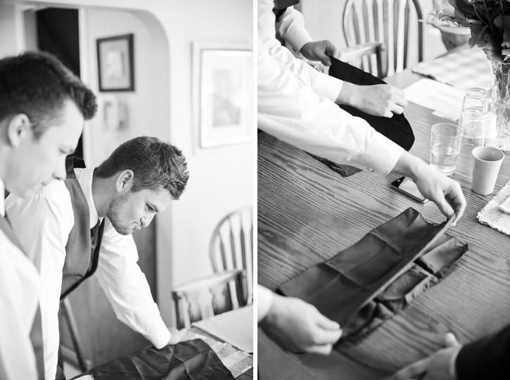 groomsmen folding pocket square