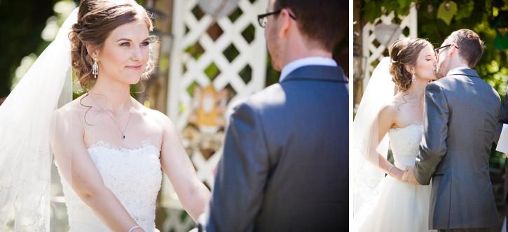 wedding ceremony first kiss chilliwack