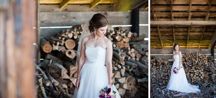 rustic saar bank farms bride portrait