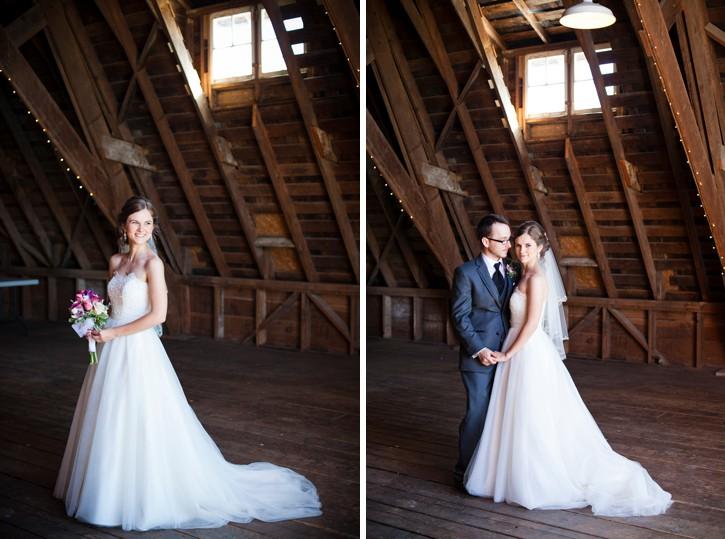 bride and groom in barn at saar bank farms wedding in chilliwack, barn wedding chilliwack