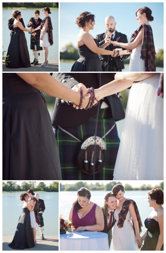 handfasting ceremony lesbian wedding ubc boathouse