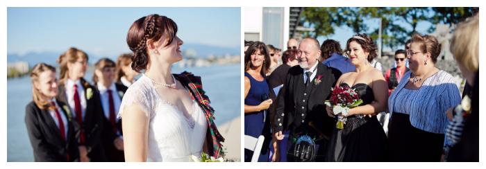 lesbian wedding walk down the aisle in richmond bc