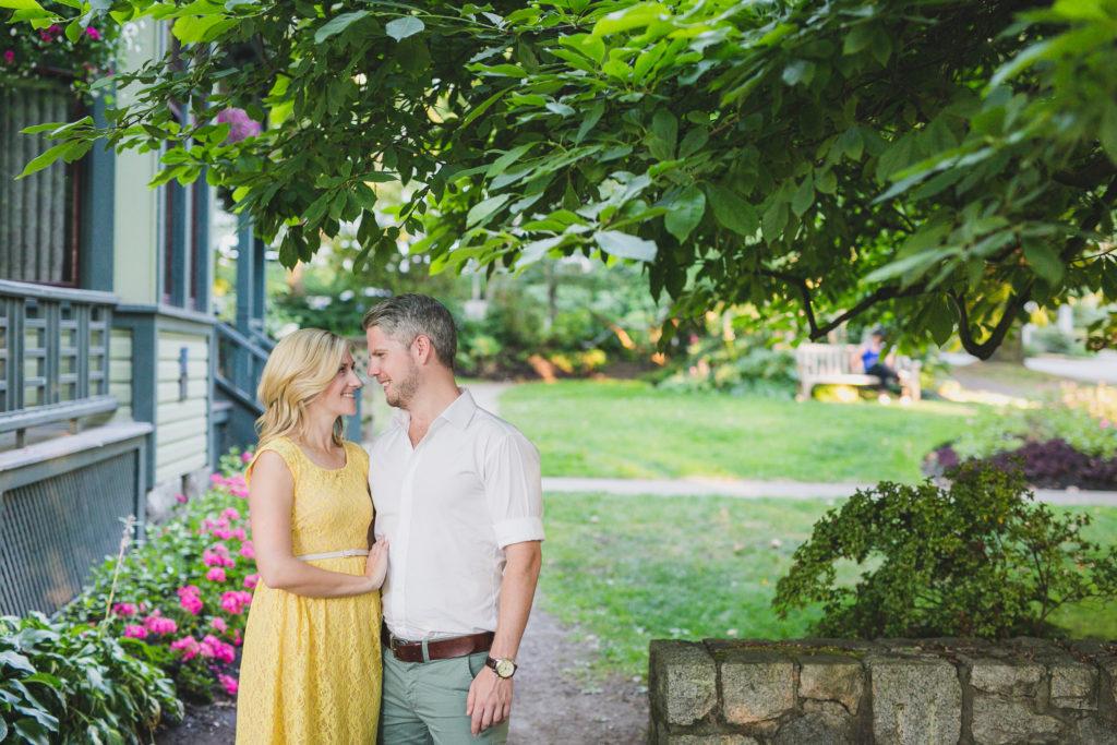 couple outside roedde house museum vancouver