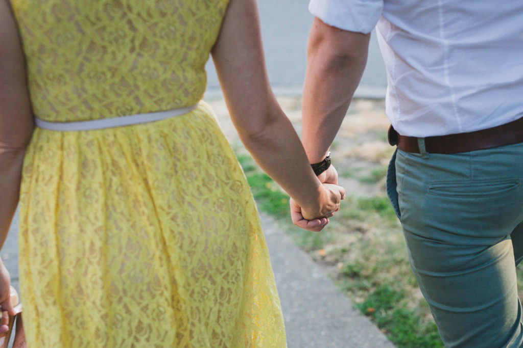 holding hands detail engagement photography vancouver