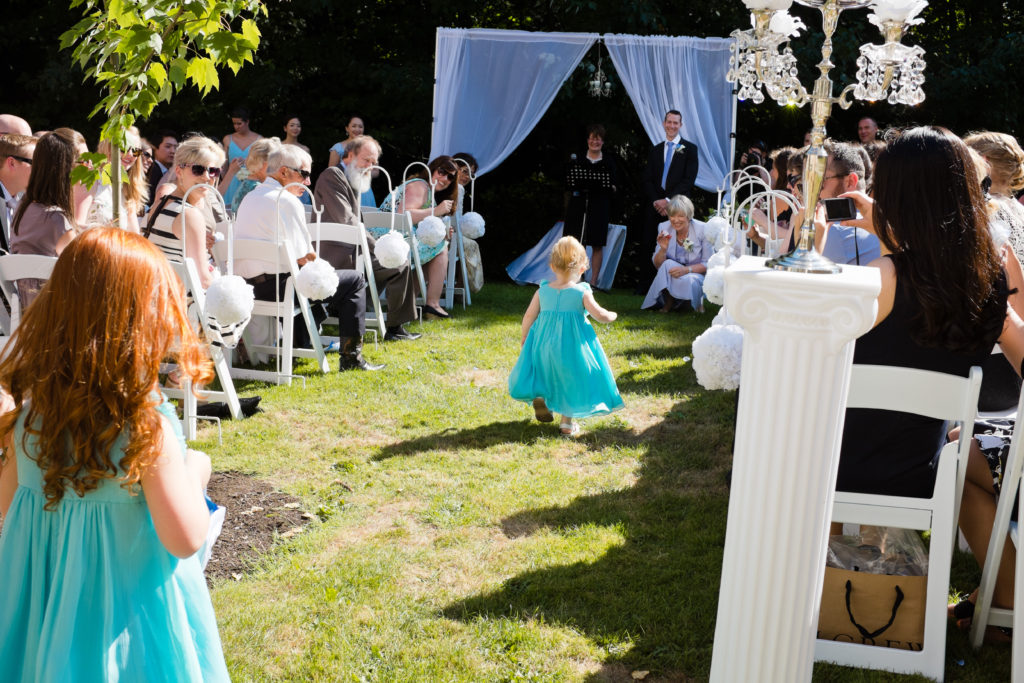 port moody wedding ceremony flower girls