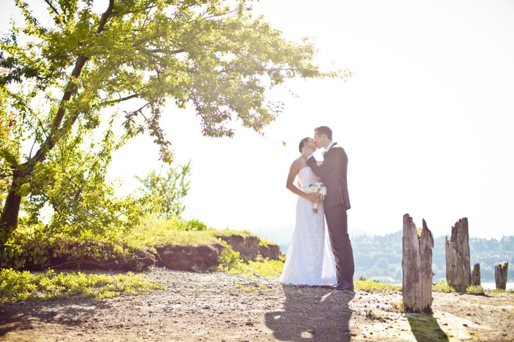 shoreline park port moody wedding portrait mill ruins