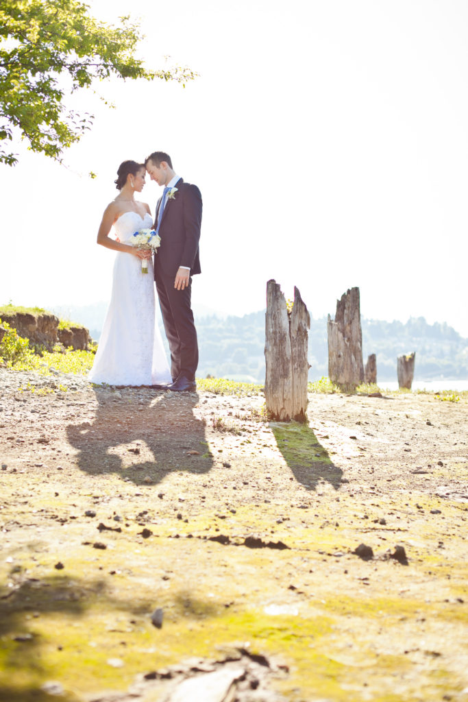 port moody beach wedding portrait old orchard park