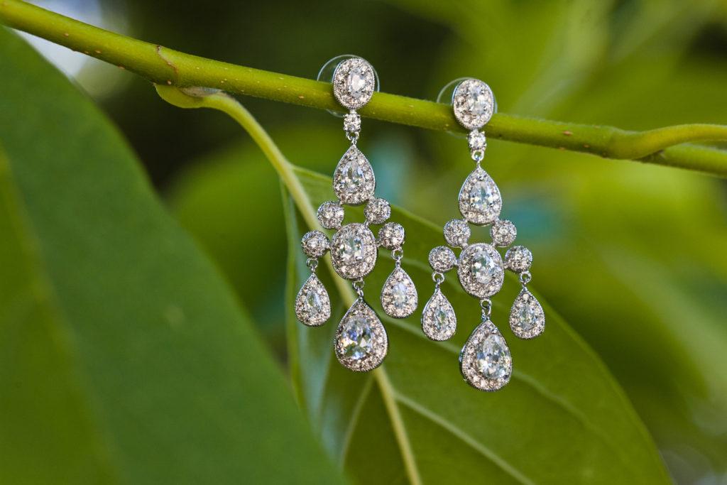 wedding earring details