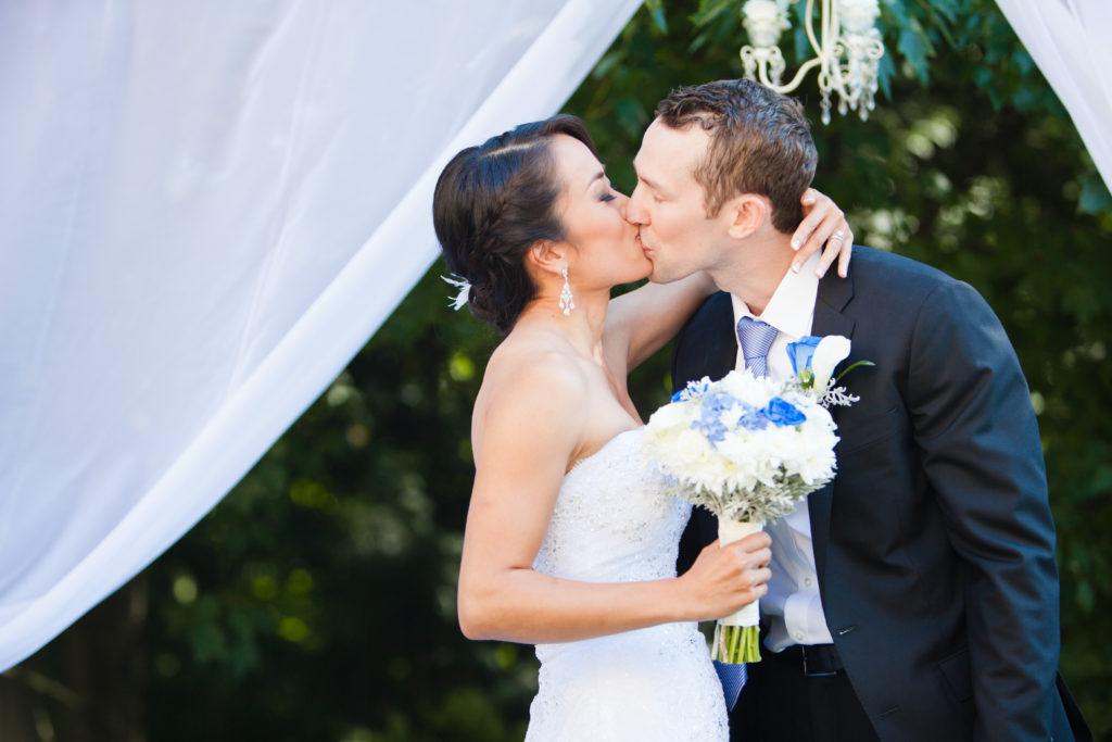 first kiss wedding ceremony port moody