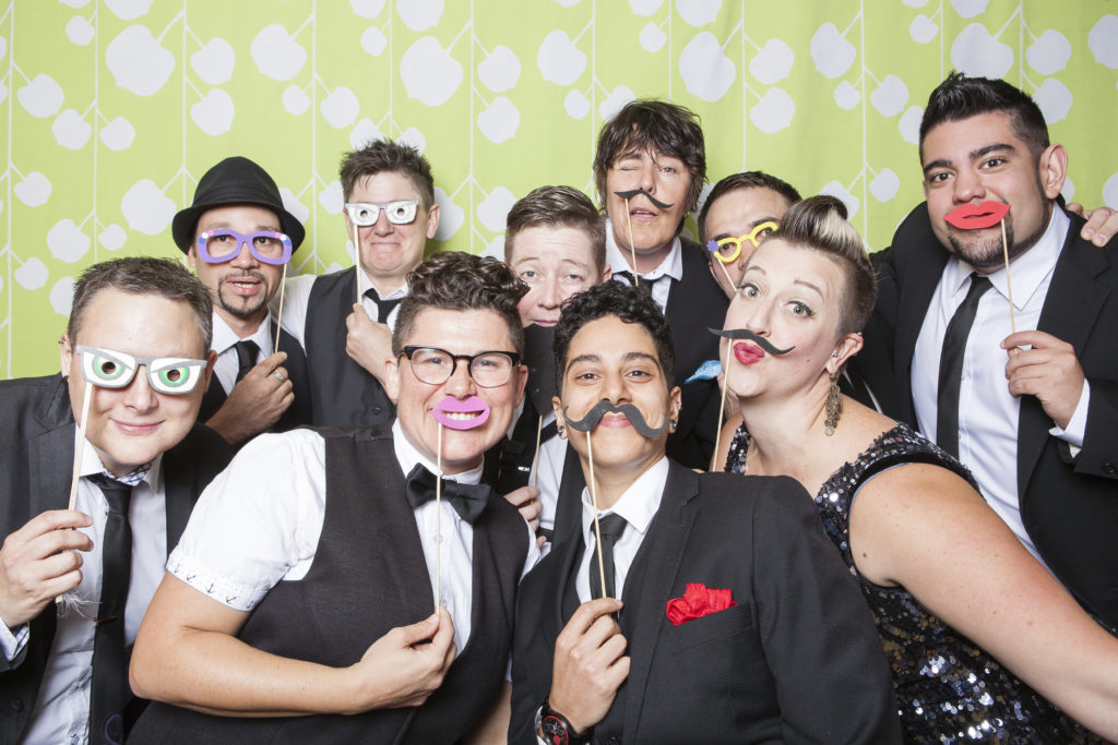 queer as funk, vancouver photo booth, same-sex wedding photobooth vancouver