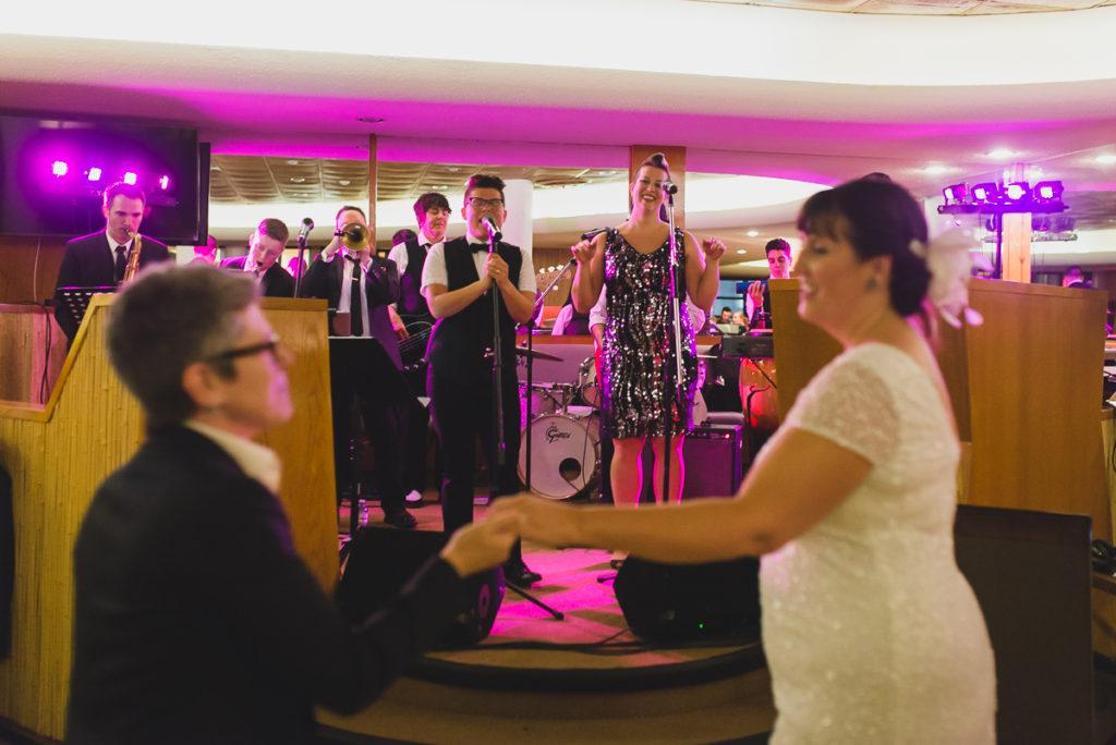 waldorf hotel wedding, waldorf hotel vancouver, wedding band, same sex wedding vancouver, jewish lesbian wedding vancouver, queer as funk