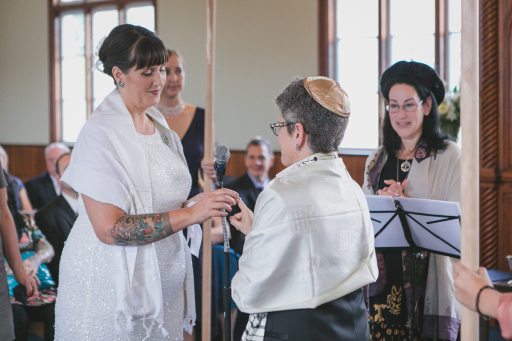 giving of the ring jewish wedding ceremony vancouver
