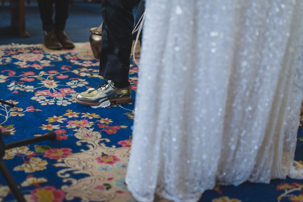 breaking of the glass, jewish wedding ceremony vancouver, same-sex jewish wedding