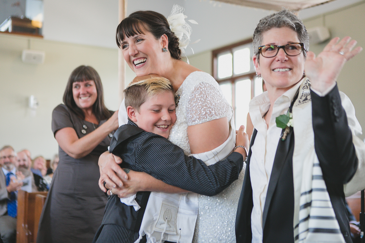 or shalom synagogue wedding, same sex wedding photographer vancouver
