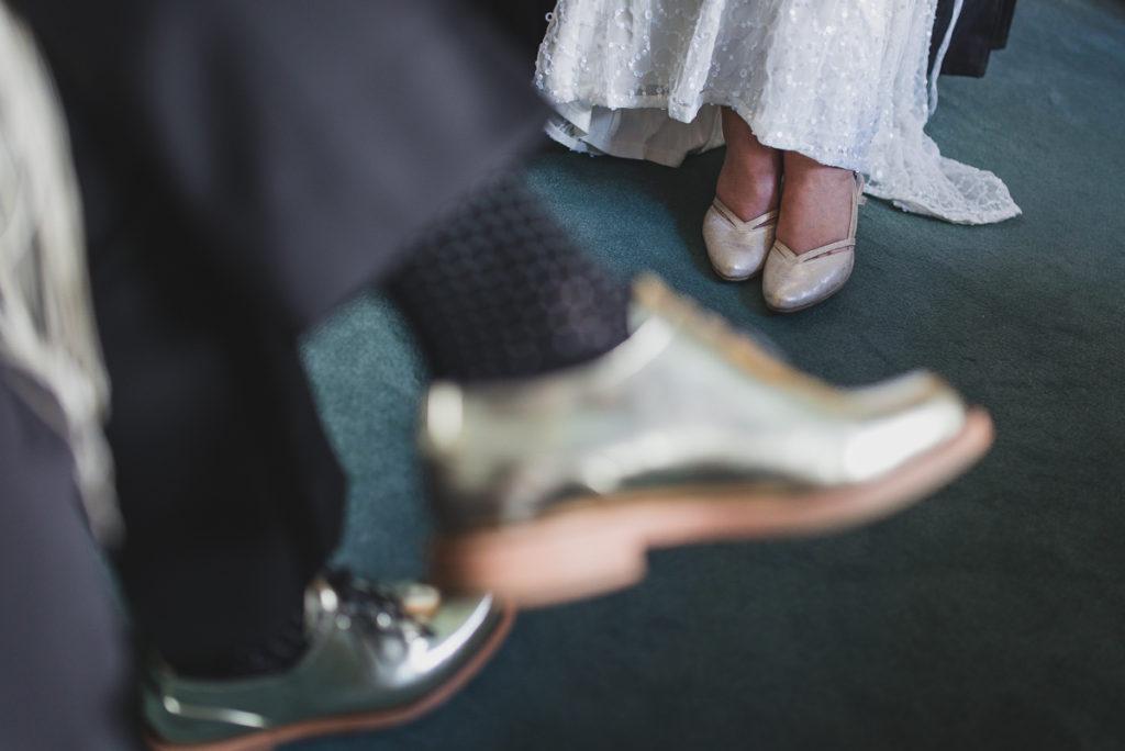 jewish lesbian wedding vancouver, bride's shoes