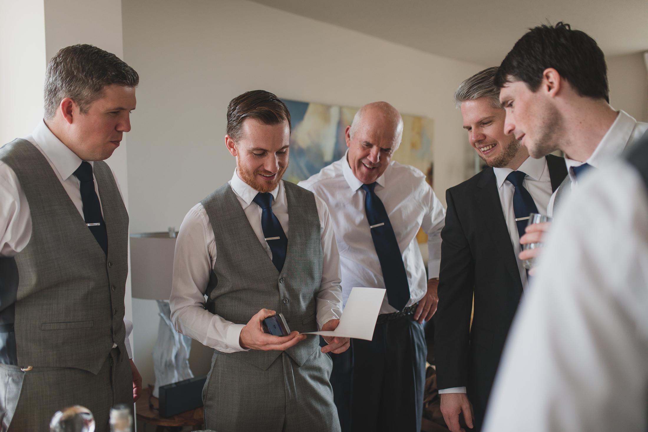 west end vancouver wedding, groomsmen getting ready