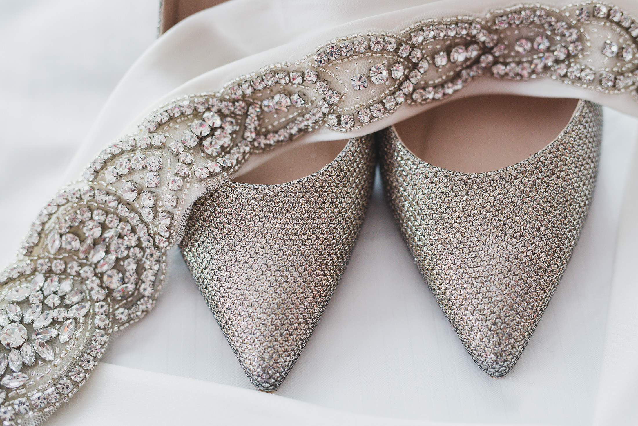 wedding shoes detail at opus hotel wedding vancouver