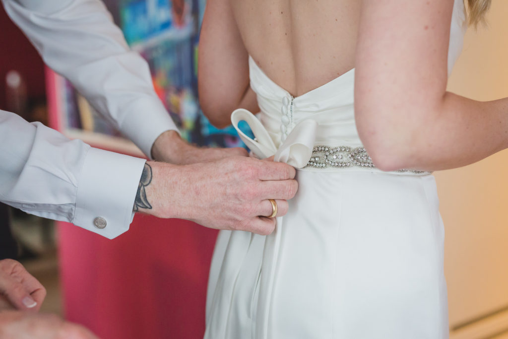 sposa wedding dress detail, vancouver wedding at brix