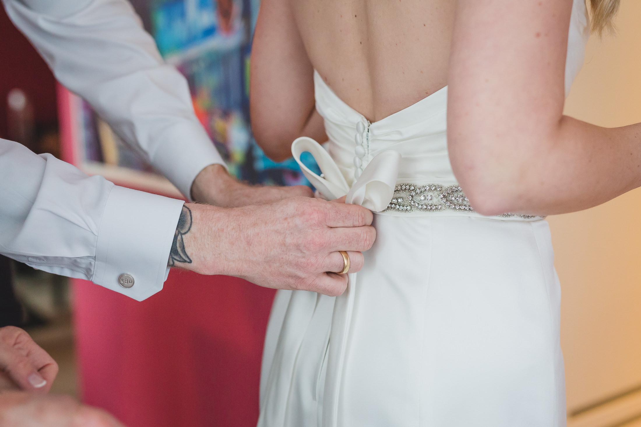 sposa wedding dress detail, vancouver wedding at brix