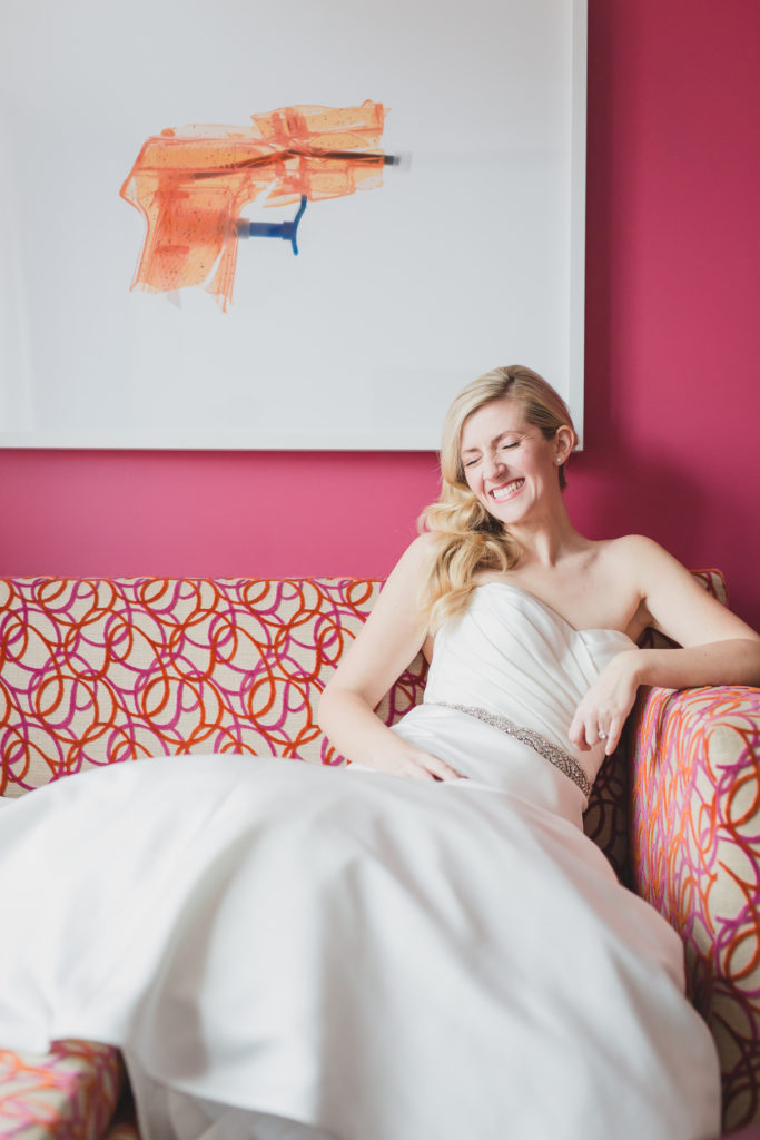 fun bridal portrait at opus hotel vancouver