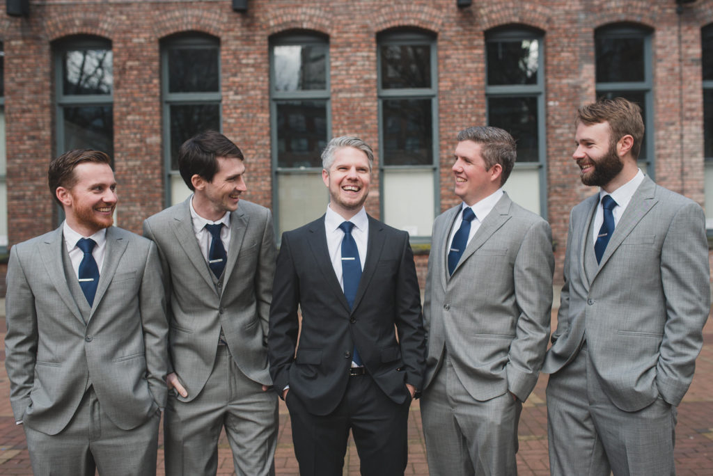groom and groomsmen portraits yaletown vancouver
