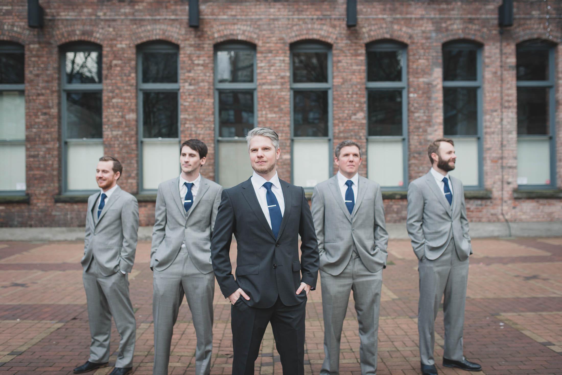 hugo boss suit groom in yaletown vancouver