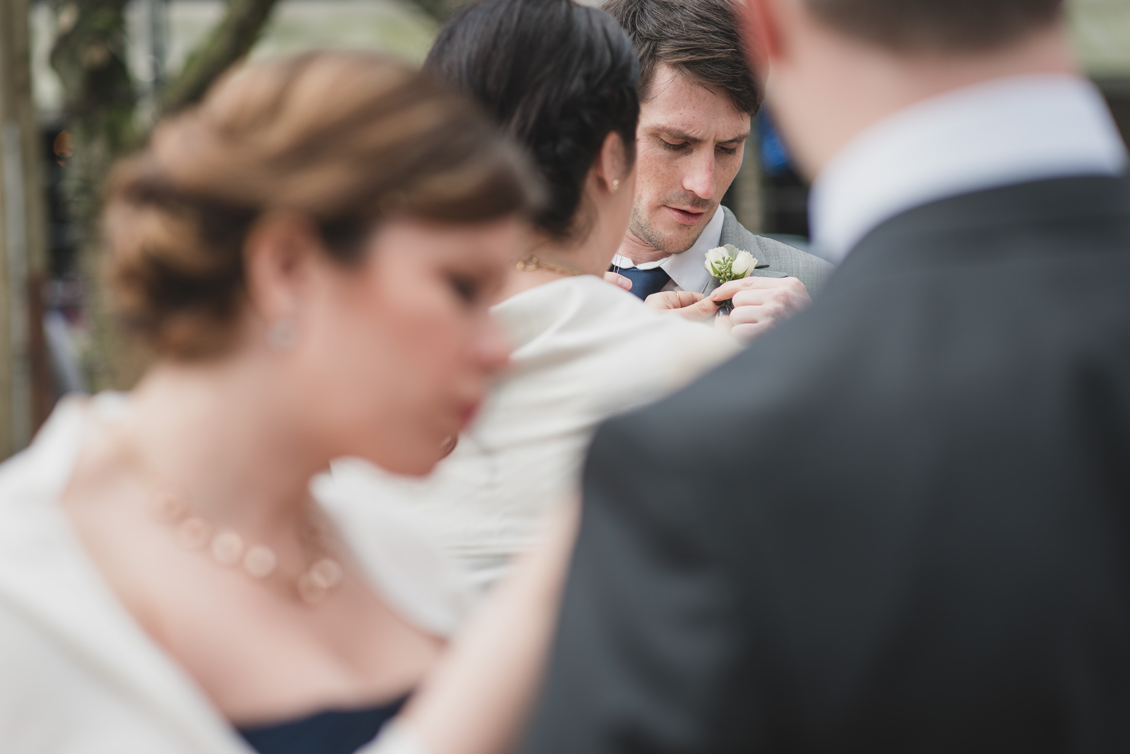 photojournalistic wedding vancouver, boutonniere detail