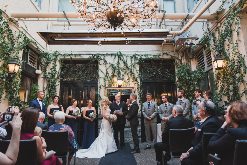 wedding ceremony at brix vancouver