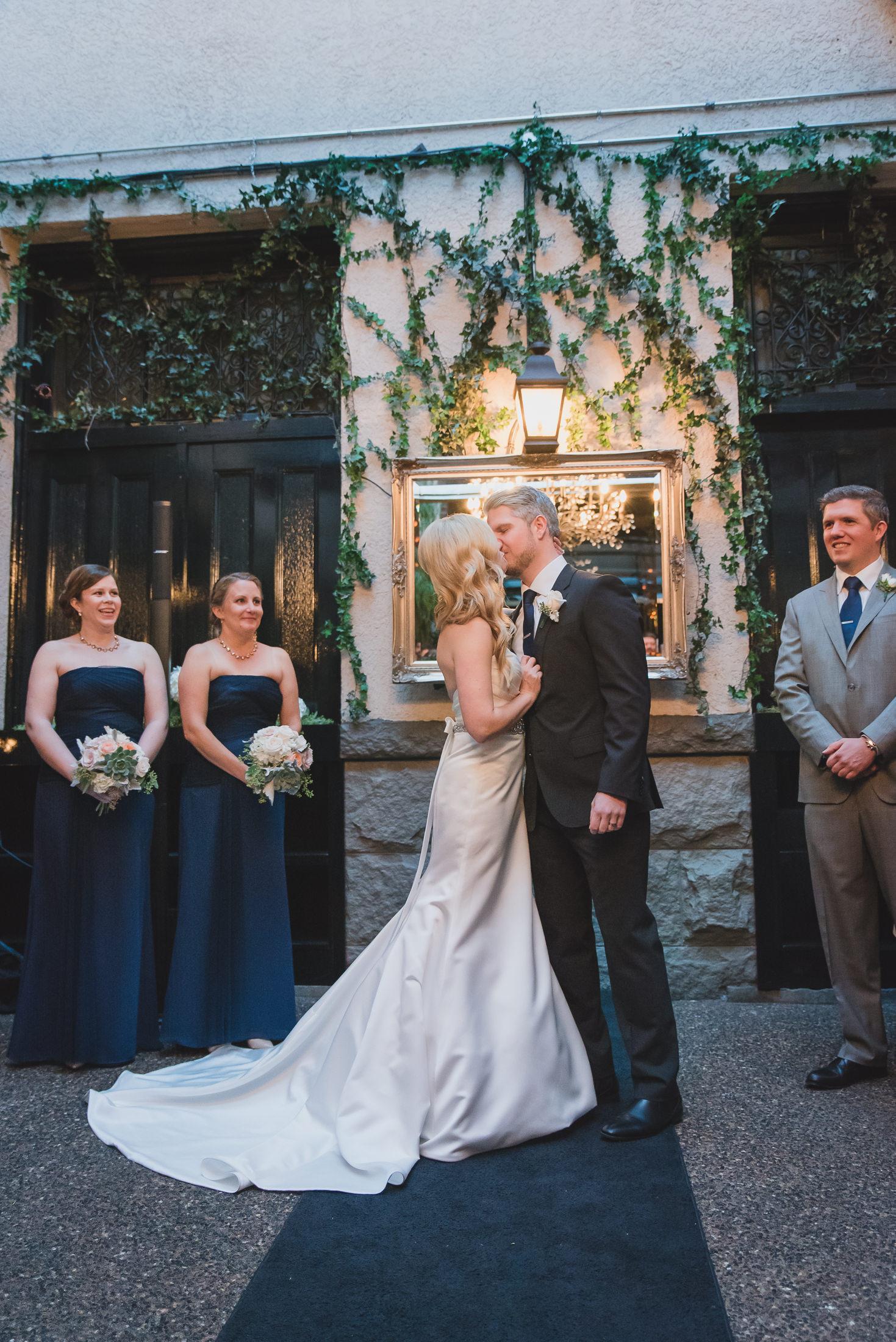 wedding ceremony kiss vancouver brix