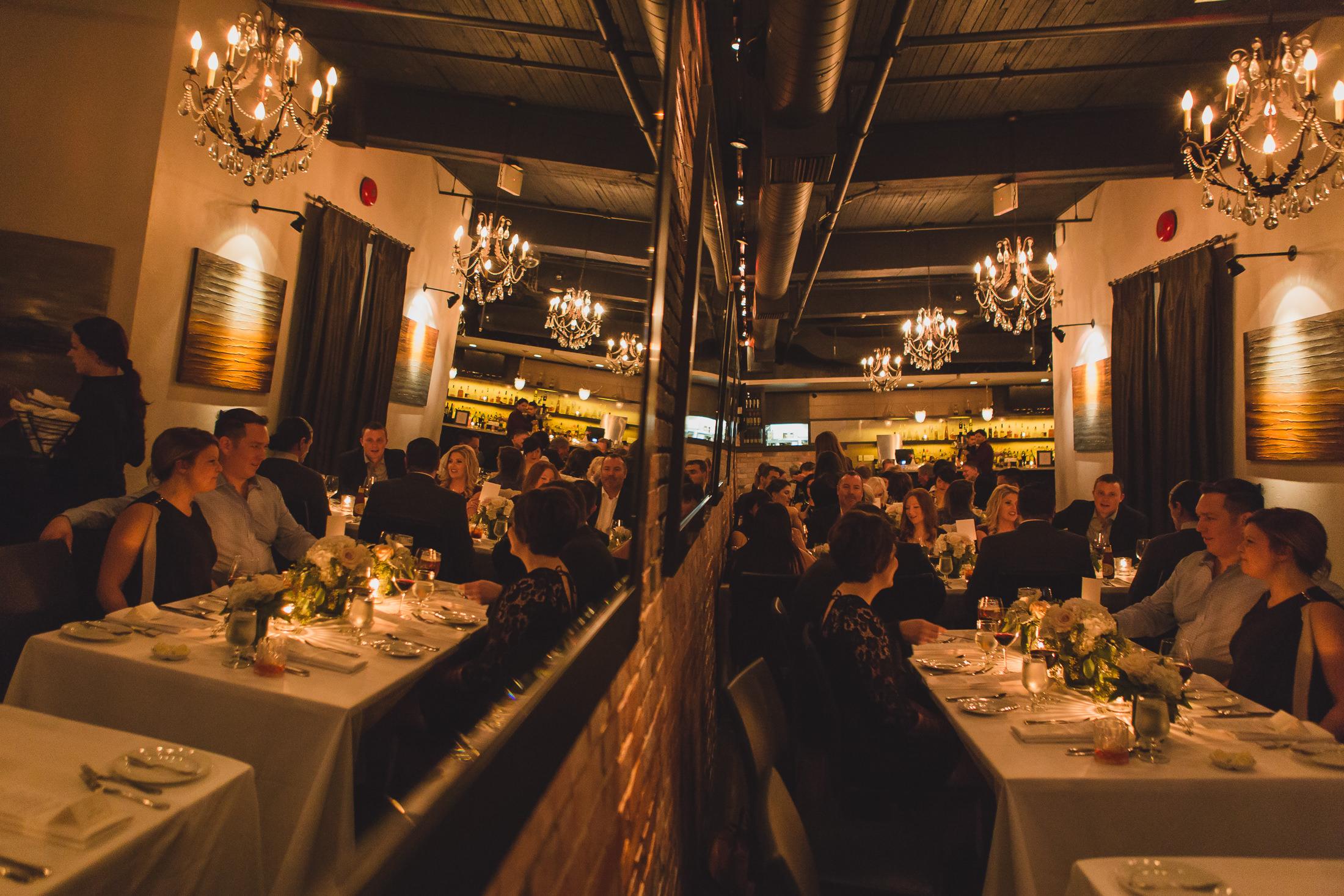 cozy winter wedding reception at brix and mortar vancouver