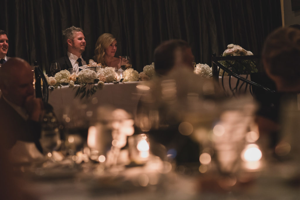 wedding speeches candlelit wedding vancouver