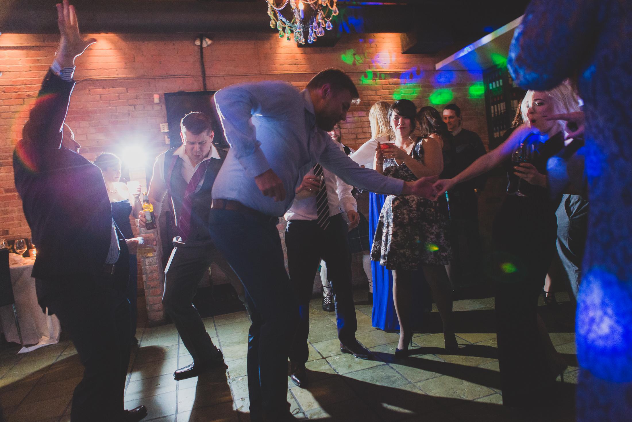 dance party wedding reception at brix and mortar
