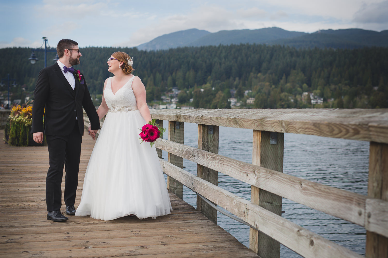 rocky point park pier wedding photos