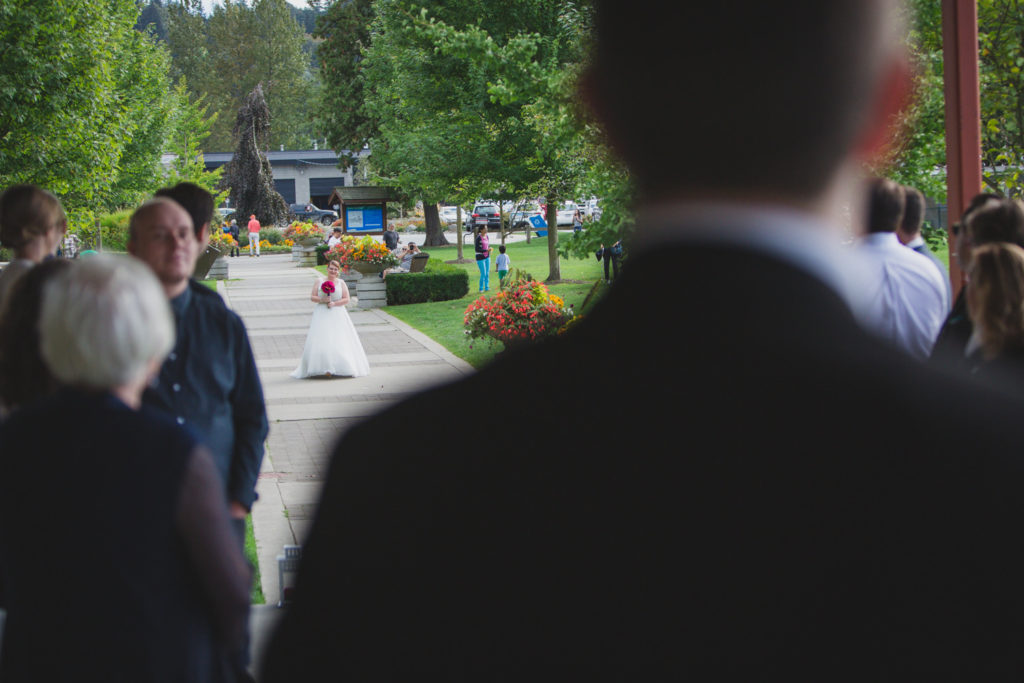 Wedding ceremony at Rocky Point Park Port Moody