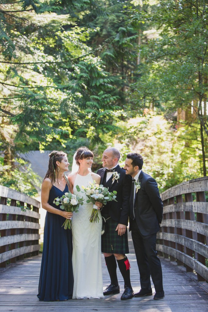 Alternative wedding photography wedding party