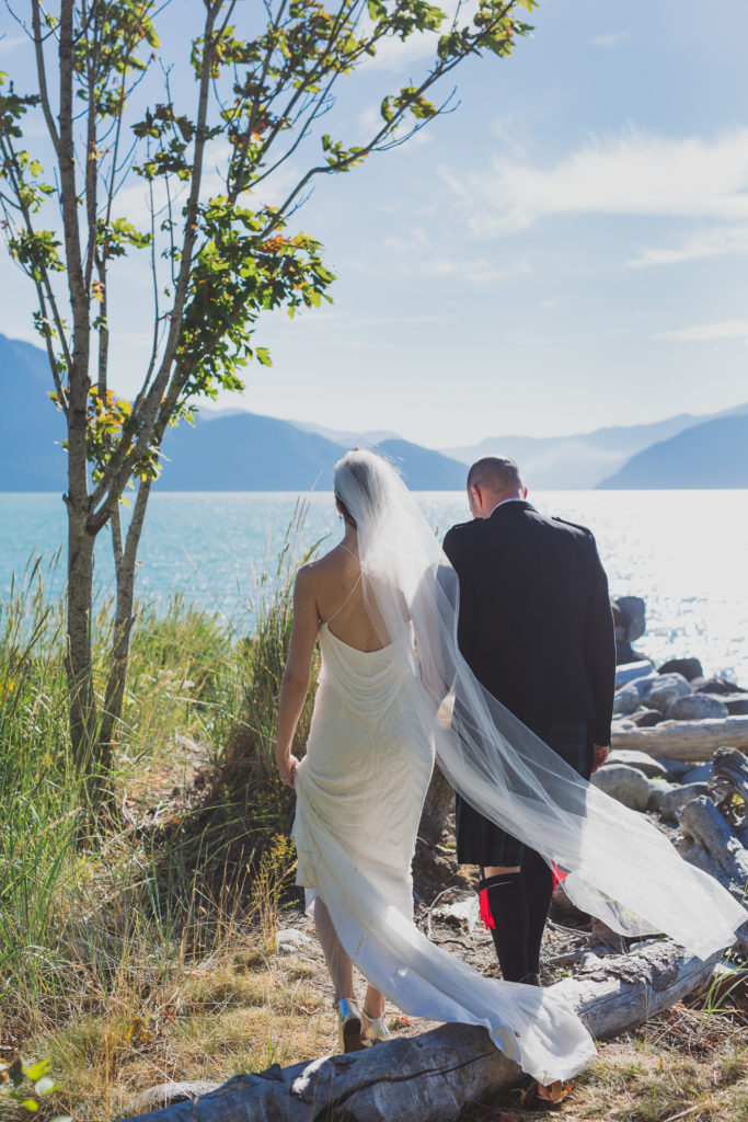 Bohemian Whistler wedding at Furry Creek