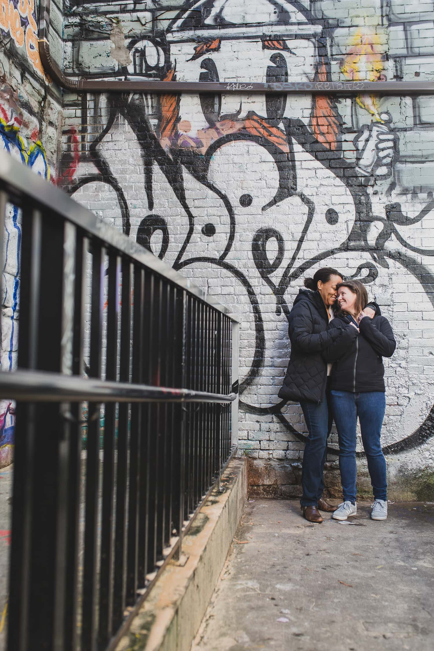 gay couples session graffiti alley vancouver