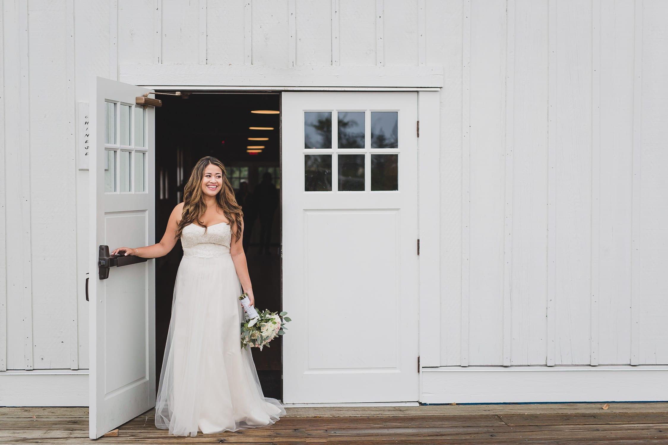 bride portrait at brittania shipyards in steveston