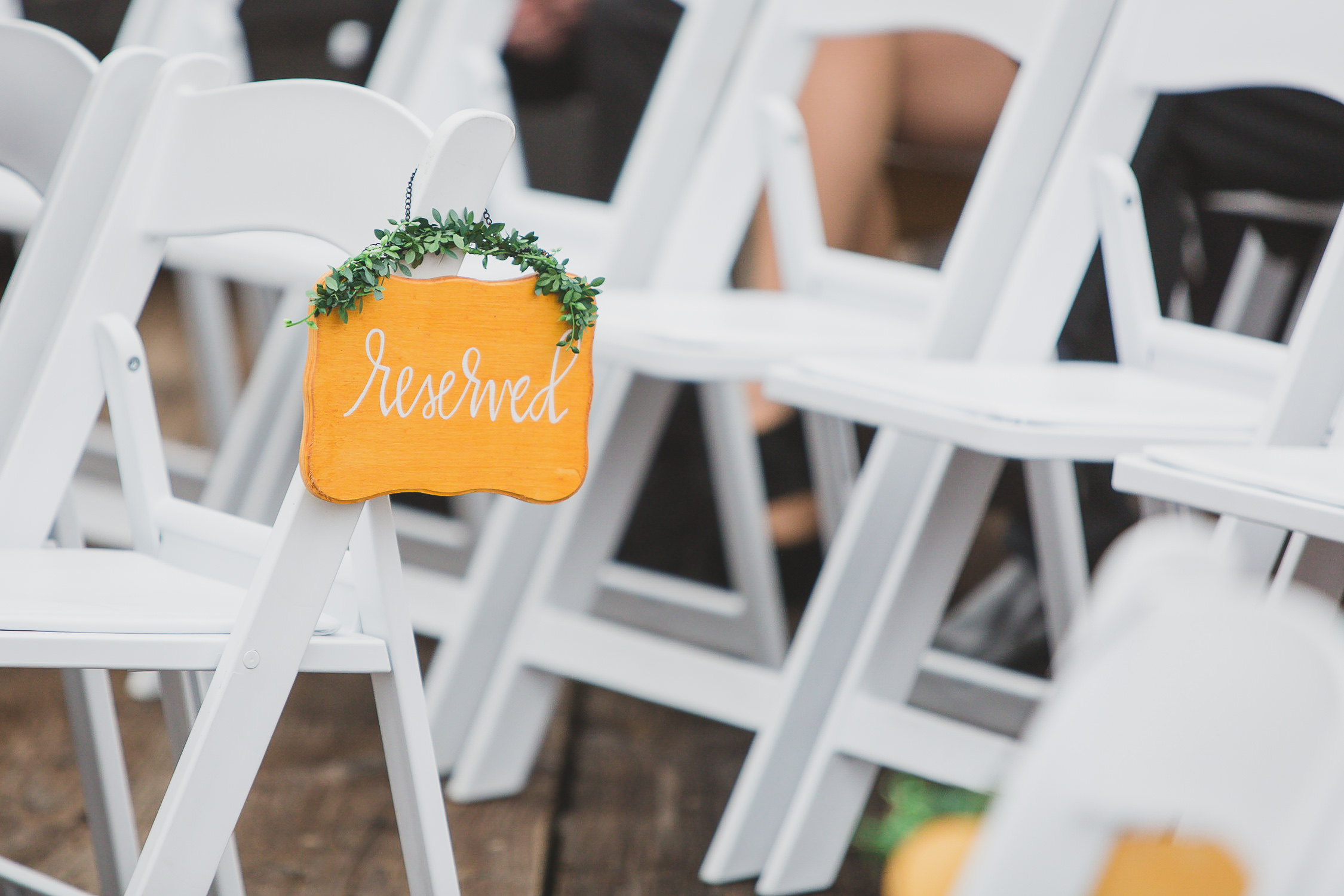 wedding ceremony reserved sign calligraphy