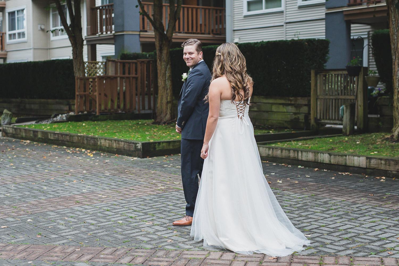steveston wedding first look