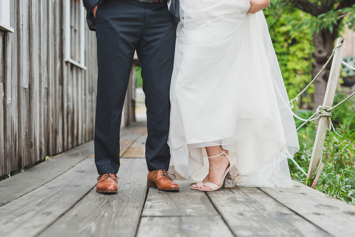 bride and groom shoe photo