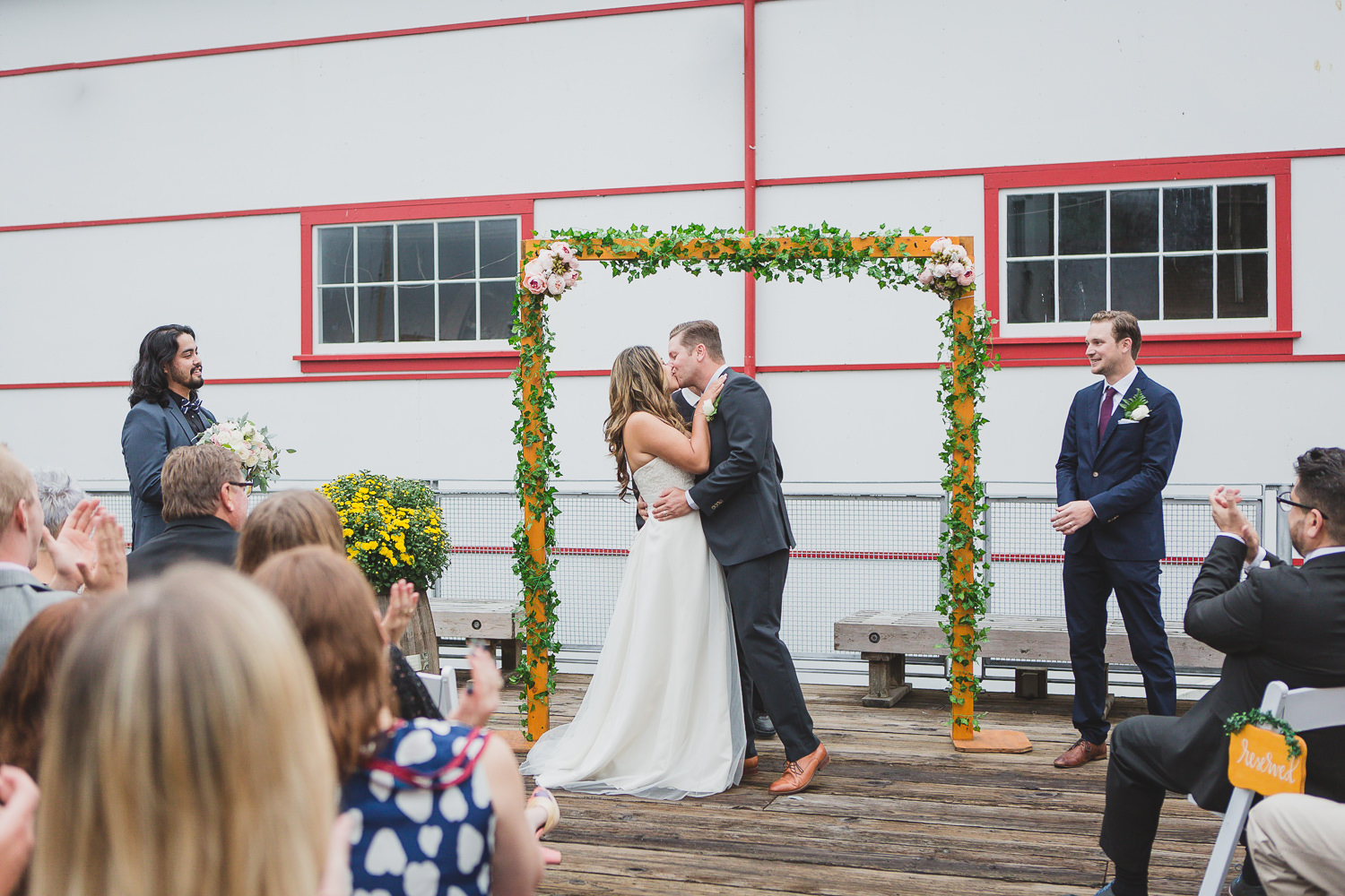 first kiss wedding ceremony vancouver